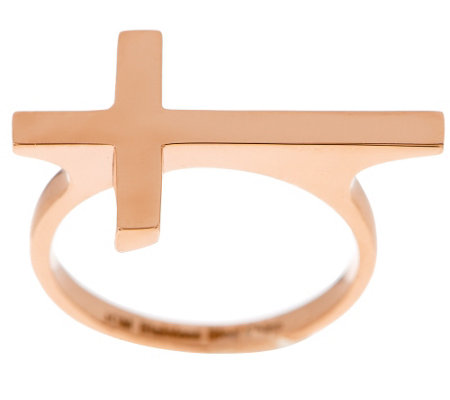 Stainless Steel Polished Horizontal Cross Ring