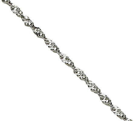 "Stainless Steel 2.0mm 20"" Singapore Chain Necklace"