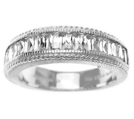 Judith Ripka Sterling Diamonique Baguette Ring