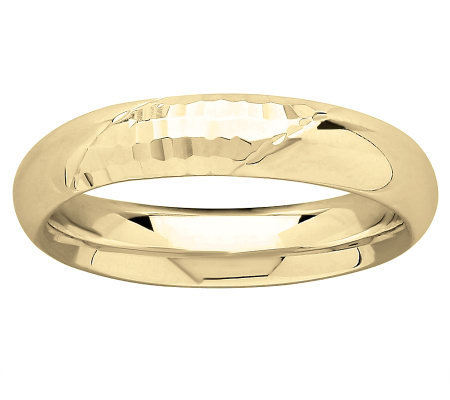 EternaGold Faceted and Polished Silk Fit Band Ring, 14K Gold