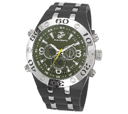 Wrist Armor Men's U.S. Marine Corps C23 Green &Black Watch