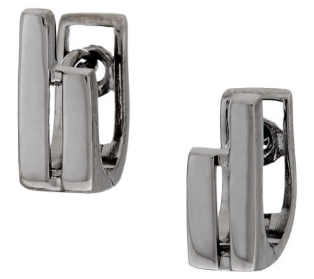 Sterling Silver Double Stick Stud Earrings by Silver Style
