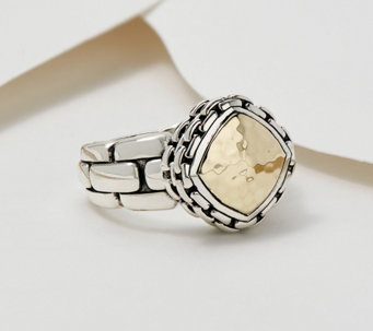 QVC Blanc Nacre Feuille D/'Or Citrine Argent sterling Bague Taille 7 162 $