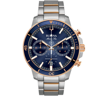Bulova Men S Marine Star Blue Dial Chronographwatch