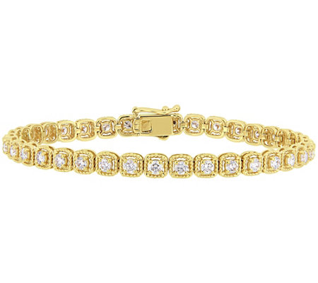Affinity 2.75 cttw Diamond Tennis Bracelet, 14KYellow Gold