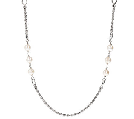 Honora Cultured Pearl 36 Rope Station Necklace