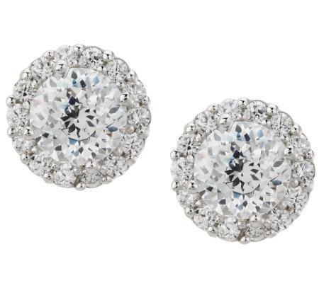 Tacori Iv Diamonique Epiphany 1 25 Ct Tw Halo Stud Earrings