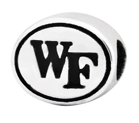 Sterling Silver Wake Forest University Bead
