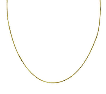 "EternaGold 20"" 053 Solid Box Chain Necklace, 14 K Gold, 2.2g"