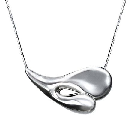 Hagit Sterling Contemporary Heart Necklace