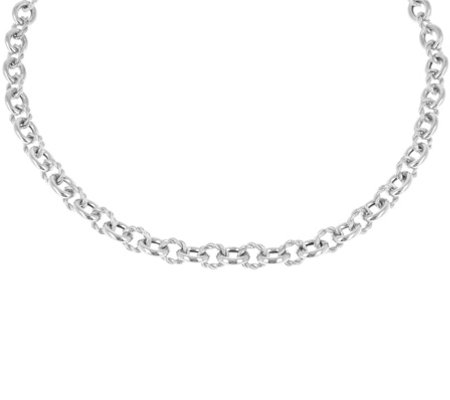 "Judith Ripka Verona 18"" Sterling Necklace 38.5g"