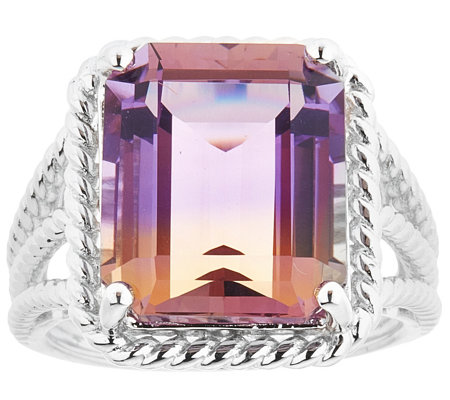 Sterling 9.00 ct Ametrine Ring