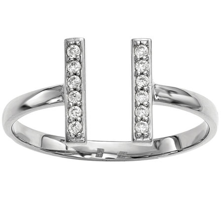Dainty Designs 14K 1/10 cttw Diamond Double BarRing