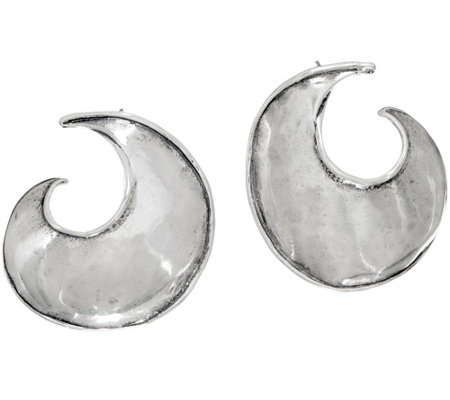 Or Paz Sterling Silver Sculpted Hoop Earrings