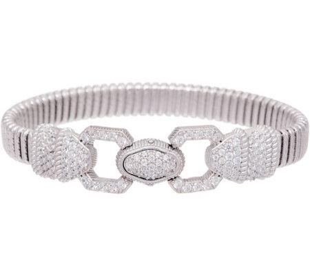 Judith Ripka Verona Sterling Tubogas Bracelet 20 8g