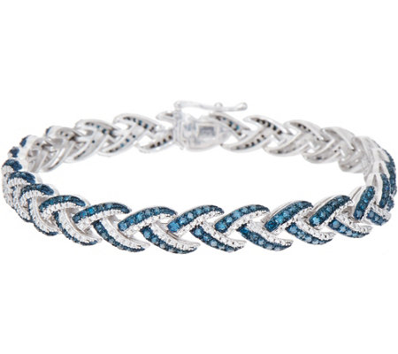 "Woven 2.05 cttw Diamond 7-1/4"" Bracelet, Sterling, by Affinity"