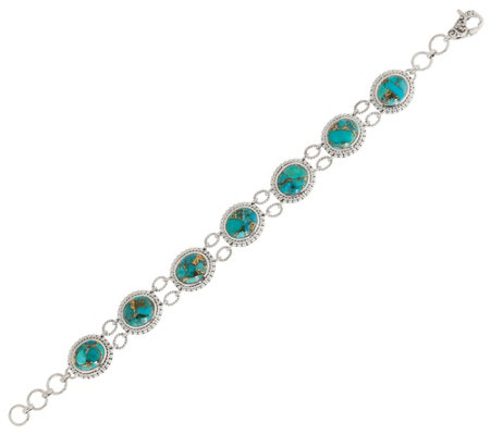 Artisan Crafted Sterling Silver Mojave Turquoise Bracelet