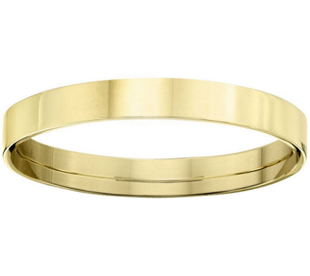 Women's 14K Yellow Gold 3mm Flat Comfort Fit Wedding Band