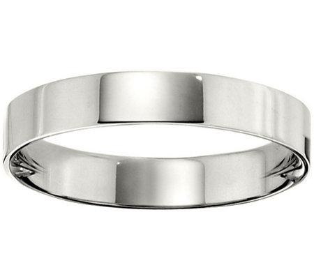 Men's Platinum 4mm Flat Wedding Band