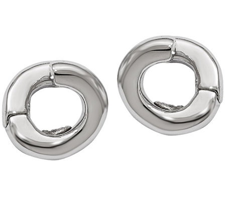 Sterling Twisted Hinged Hoop Earrings By Silverstyle