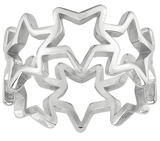 Steel by Design Open-Star Band Ring