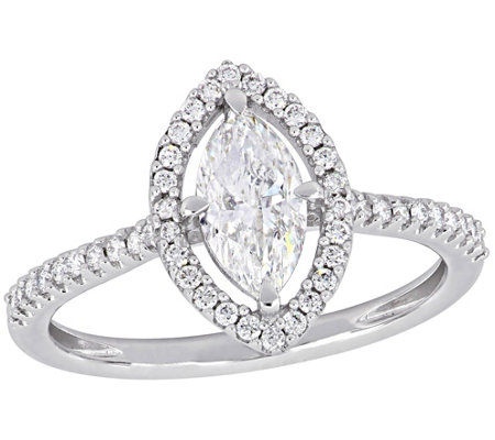 Affinity 9/10 cttw Diamond Marquise Engagement Ring, 14K