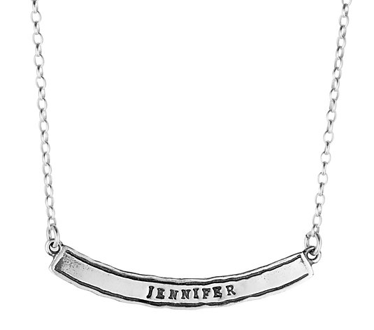 Or Paz Sterling Personalized Name Bar Necklace