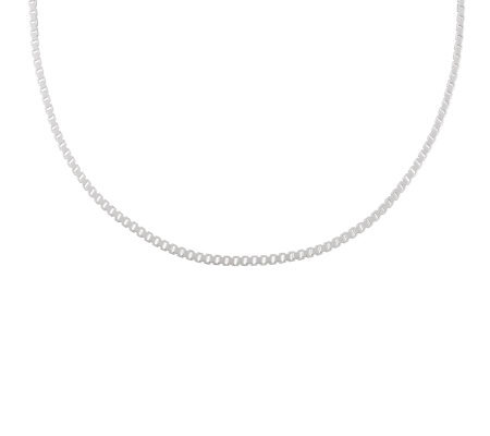 "UltraFine Silver 18"" Polished Box Chain, 10.0g"