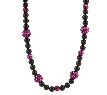 Kenneth Jay Lane's Black & Sparkle Bead Necklace