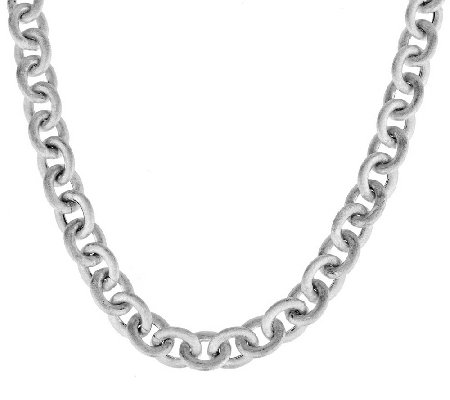 """As Is"" Italian Silver Sterling 20"" Rolo Link Necklace, 52.0g"