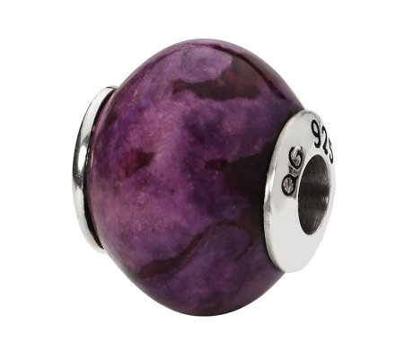 Prerogatives Sterling Smooth Purple Magnesite Gemstone Bead