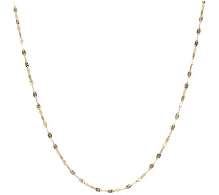 "24"" Polished Sunray Chain, 14K Gold"