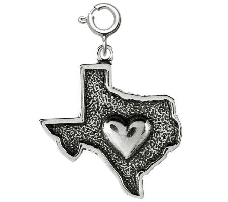 Sterling Heart of Texas Charm