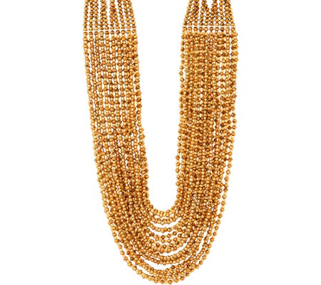 "Joan Rivers Red Carpet Shimmering Seed Bead 21"" Necklace"