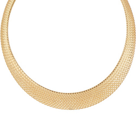 """As Is"" Dieci 20"" Braided Mesh Necklace, 10K Gold, 17.0g"
