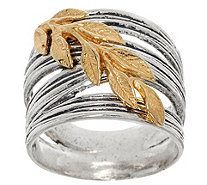 Or Paz Sterling Silver Two-tone Leaf Ring - J349532