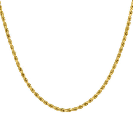 "14K Diamond Cut 22"" Rope Necklace, 37.6g"