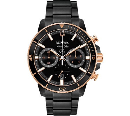 Bulova Men's Marine Star Black Chronograph Watch