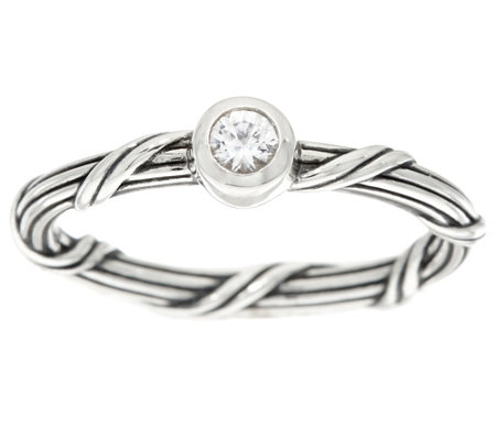 PeterThomas Roth Sterl White Sapphire SignatureRomance Ring