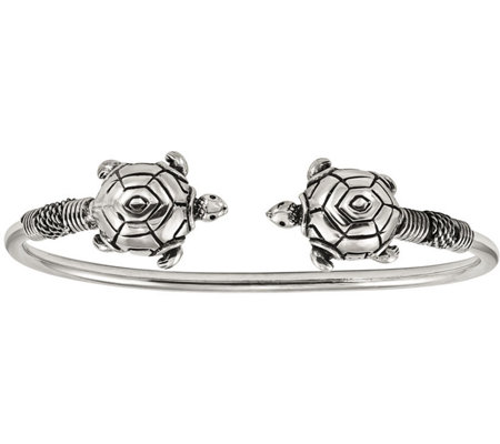 Sterling Turtle Flexible Cuff By Silver Style