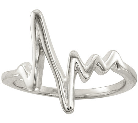Sterling Heartbeat Ring by Silver Style
