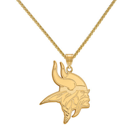 "Sterling & 14K NFL Large Pendant with 18"" Chain"