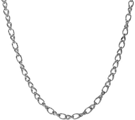 "Carolyn Pollack Sterling 32"" Wheat Chain Necklace"