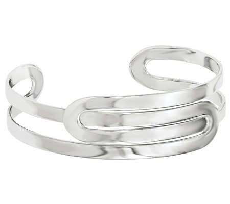Sterling Silver Polished Freeform Cuff, 23.1g