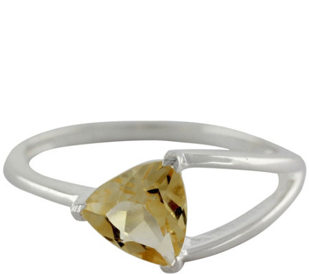 Novica Artisan Crafted Sterling Citrine Ring