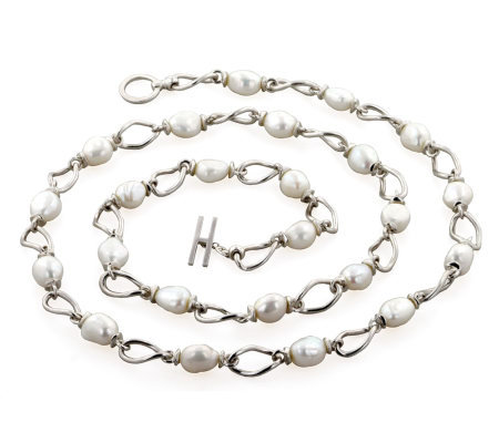Honora Cultured Freshwater Baroque Pearl 36 Link Necklace