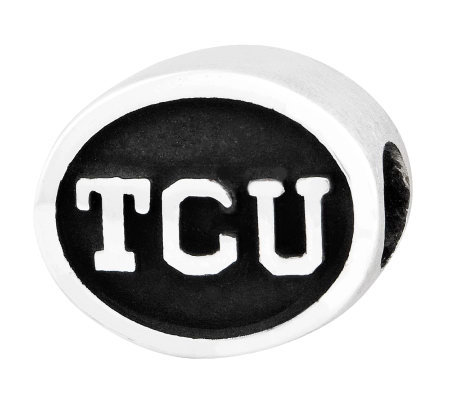 Sterling Silver Texas Christian University Bead