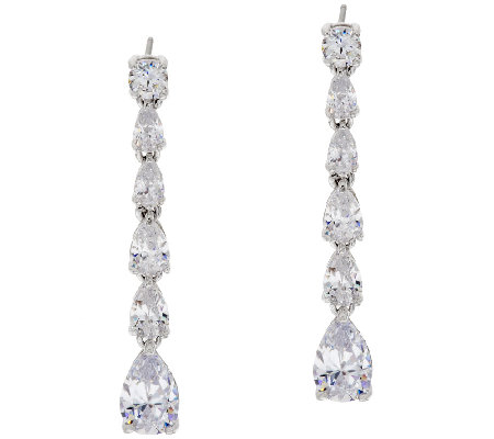 The Elizabeth Taylor 5 65cttw Simulated Diamond Wedding Earrings