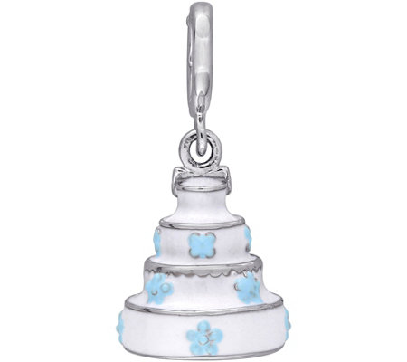 Laura Ashley Sterling Tiered Cake Enamel Charm