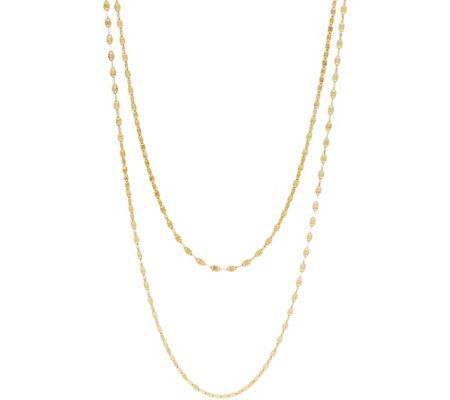 14K Gold Sparkle Link Chain Necklace, 4.6g